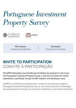Revista Capa Portuguese Investment Property Survey